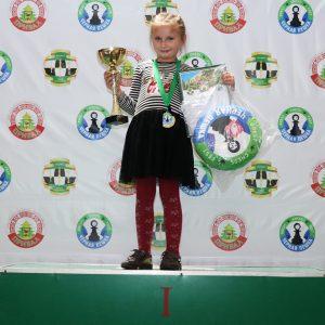1 место на Кубке Черной пешки среди девочек до 7 лет