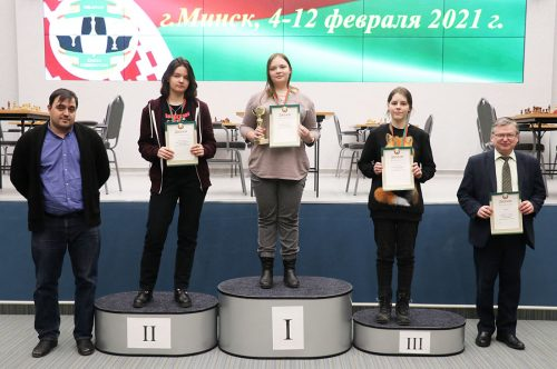 Призеры чемпионата Беларуси по шахматам до 18 лет